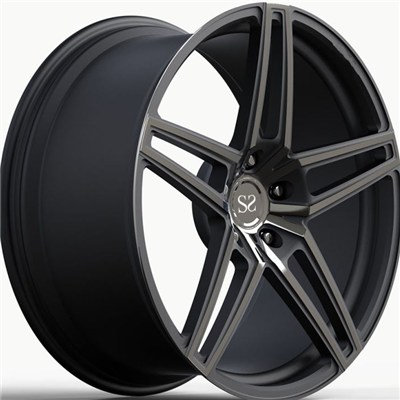 Gloss Black Milling Windows Forged Wheel Rims