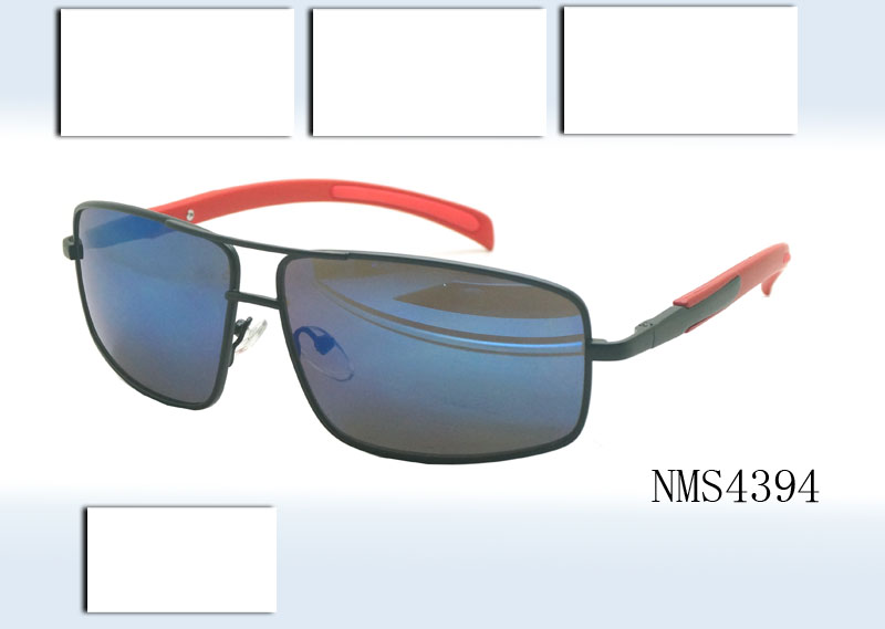 Men's sun glasses with 100% UV protection lens, available in various colors and sizes