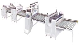 Woodworking PVC film paper sticking/Sticker lamination machine production line using pvac glue