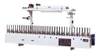 Aluminum ,MDF,wood/wooden line,pvc woodworking profile wrapping lamination machine