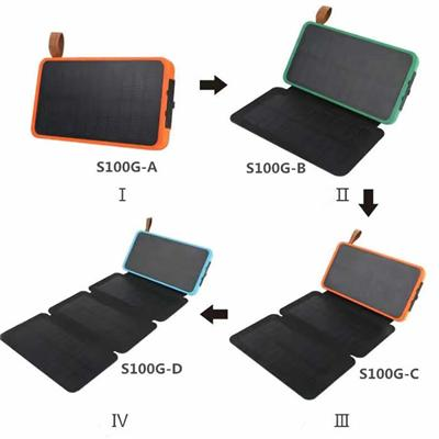 Solar Power Bank With Foldable Solar Panels