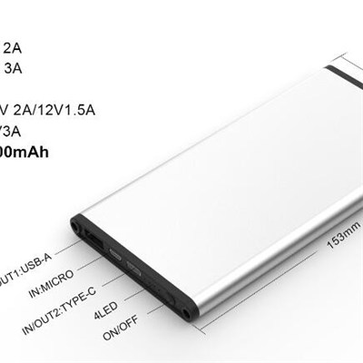 QC3.0 Fast Charging Power Bank With Type-C