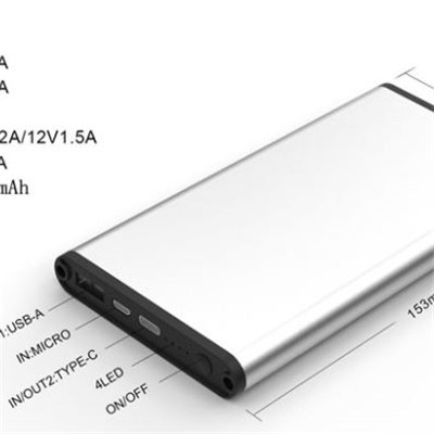 15000mah Type C And Qc 3.0 Power Bank