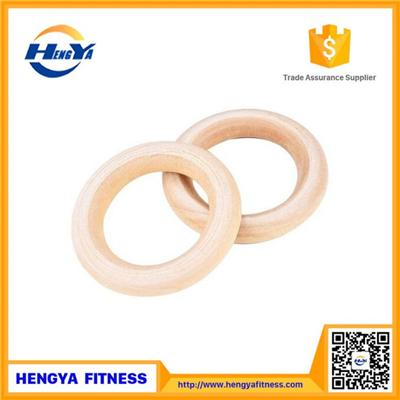Hot Selling Wooden Gym Ring With Strap