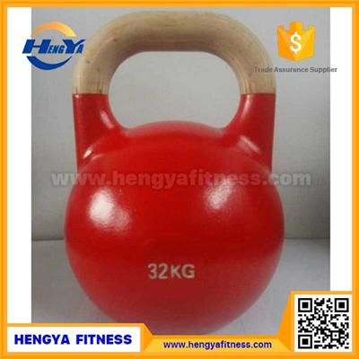 New Type Wooden Handle Competition Kettlebell