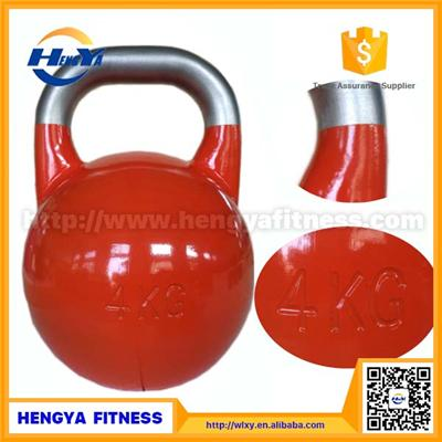 Wholesale Gym Equipment Crossfit Stainless Steel Handle Competition Kettlebell