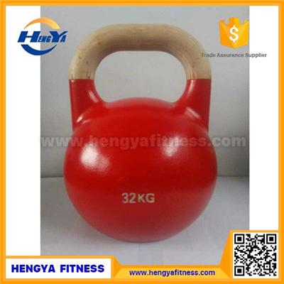 2017 New Type Wooden Handle Competition Kettlebell