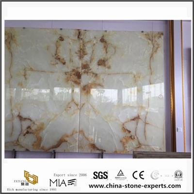 Latest Design Nature White Onyx Marble For Hotel With Beautiful Pattern From Onyx Manufacturer