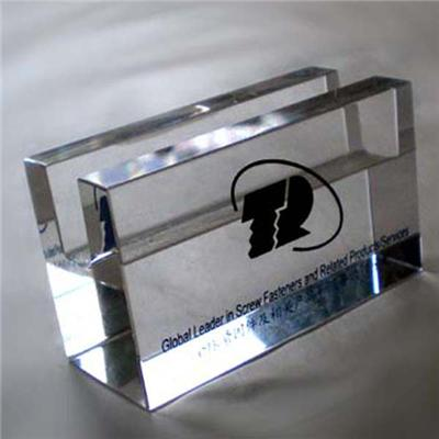 Glass Card Holder