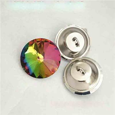 Colored Glass Buttons For Home Decoration