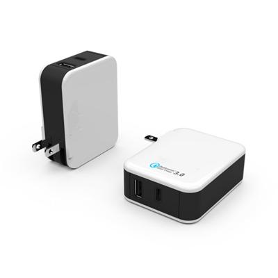 Dual Port Type-c And Qc 3.0 Quick Wall Charger