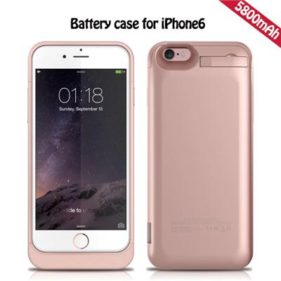 Hot 5800 MAh External Battery Case For Iphone 6, Power Bank Phone Cover With Stand