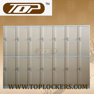 Double Tier ABS Plastic Cabinet, Strong Lockset for Security