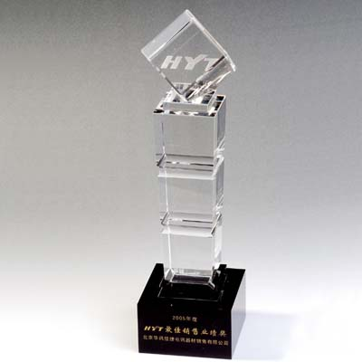 Excellence Crystal Employee Award For Company Gifts
