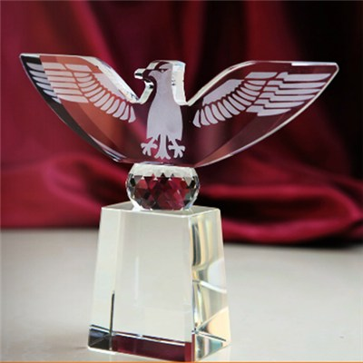 Personalized Crystal Eagle Award