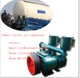 10m3 Double Purpose Hanging and Seated Type cement trailer compressor