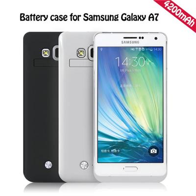 Hot Sale 4200mAh Laptop Rechargeable Cute Battery Power Case For Samsung Galaxy A7