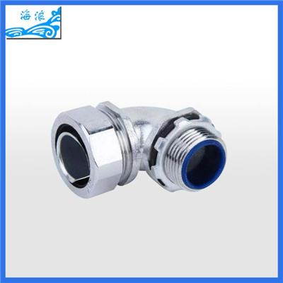 90 Degree Metal Flexible Conduit Connector