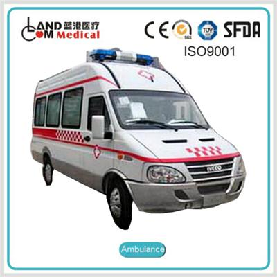 TypeⅡ4×2 / 2WD Left Hand Drive / LHD Iveco High Roof Diesel Ambulance