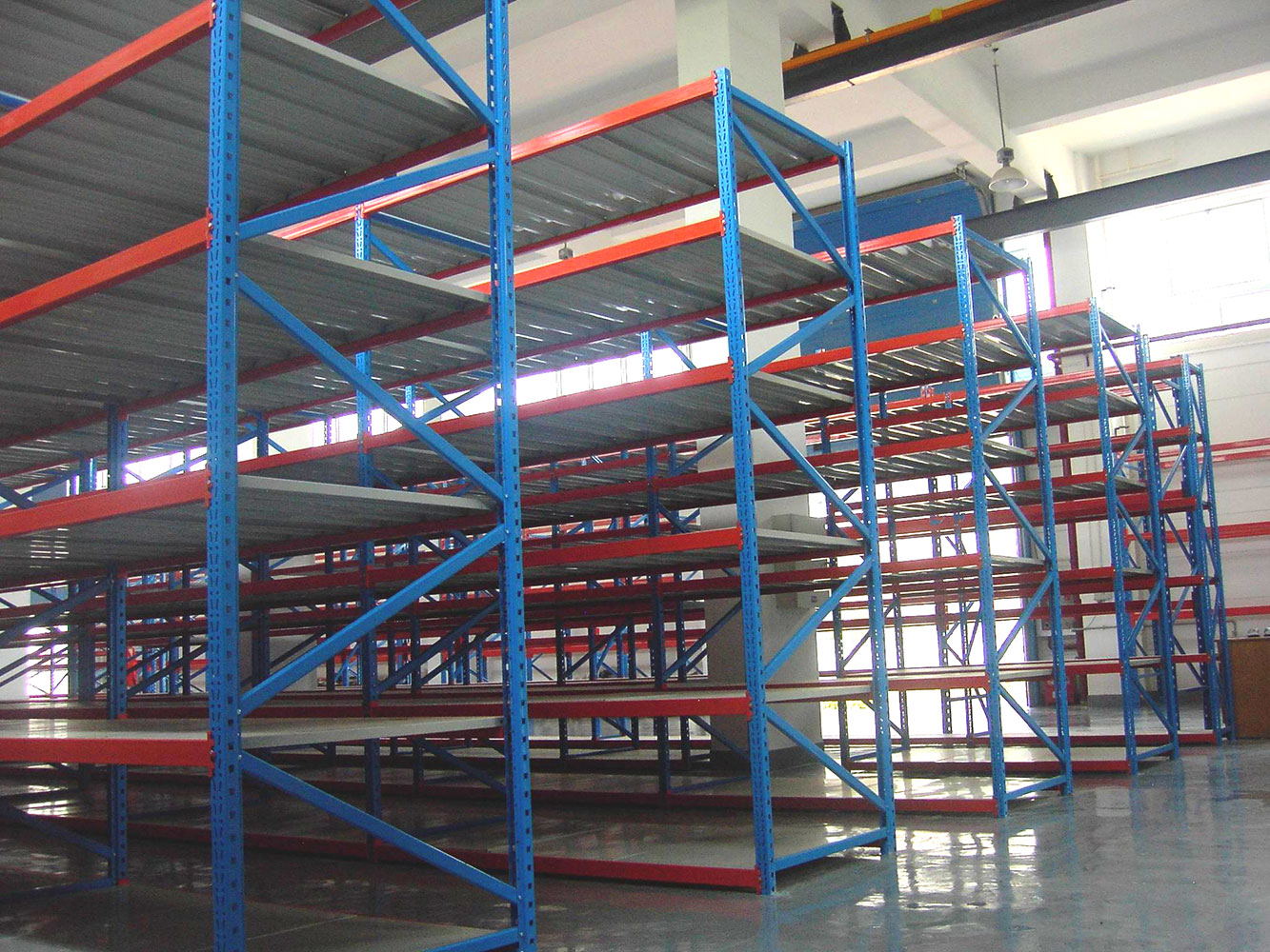 With beam Load 200-600kg longspan shelving