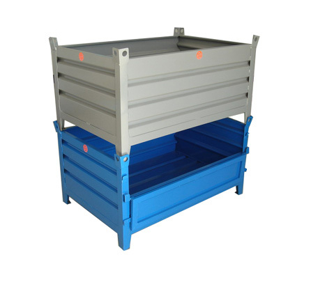 Fixed stackable storage rack container