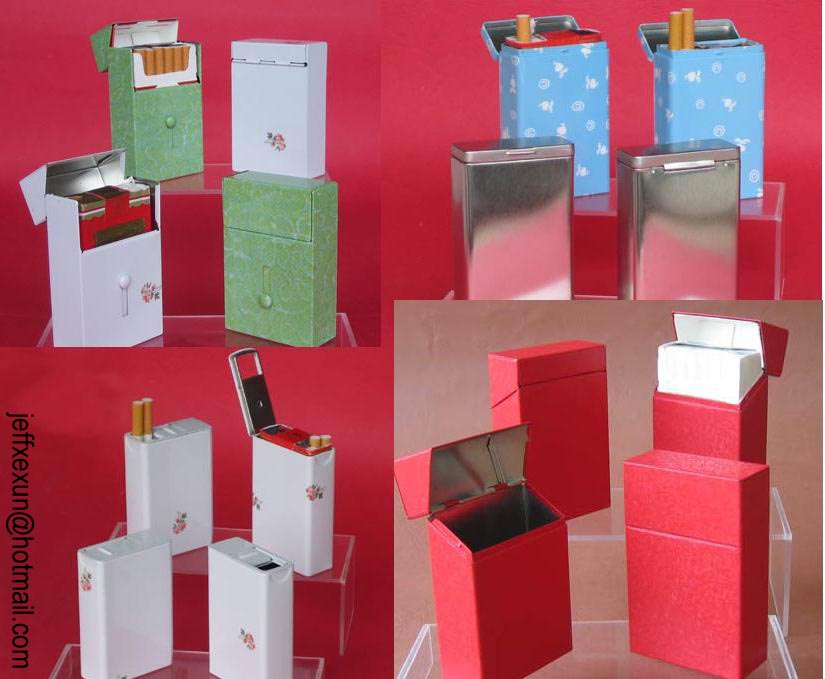 cigarette cases, cigarette box, tin case, tin box