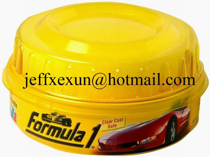formula 1 car wax tin can, car wax container, round tin can