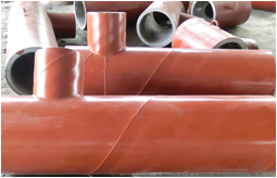 steel pipe with cast basalt lining