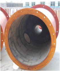 big size of cast basalt lined steel pipe  cast basalt ID more than 800mm