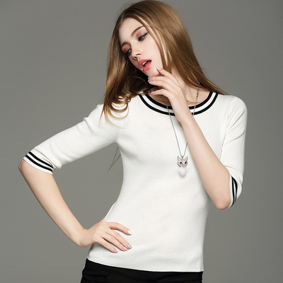 W's Cashmere Crew Neck Knit Sweater Women