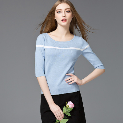 2017 HOTEST FASHION EUROPEAN WOMEN\'S NEWEST CASUAL KNITWEAR