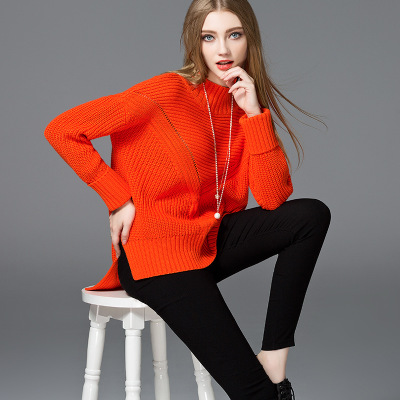 Winter Latest new style round neck long knitted sweater cardigan coat Christmas Sweater new designs for Ladies