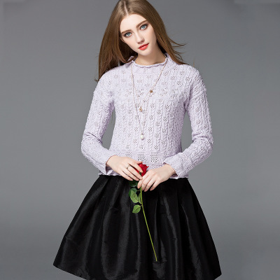Sweater manufacturer wholesale pointelle style private label woolen sweater designs ladies