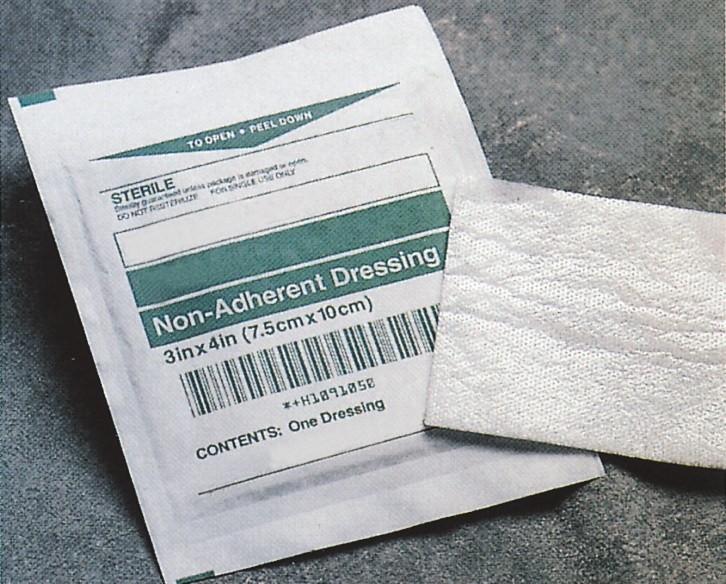 Hospital surgical wound dressing non adherent absorbent pad