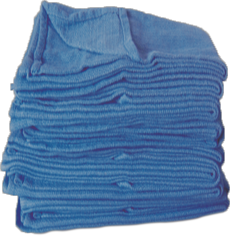 100% Cotton Medical absorbent O.R Blue Towel  Sewn, prewashed, de-linted and extra soft