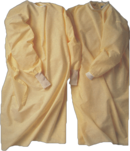 Protective products, isolation gown made of PPSB, latex-free, non-irritating, odorless and fiberglass free