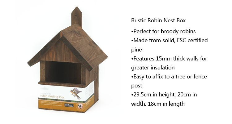 multi sparrow robin pine wooden bird nest box
