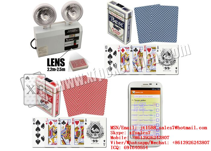 XF Best 555 Paper Playing Cards With Invisible Ink Markings And Bar-Codes For Invisible UV Lenses And Poker Readers / Watch scanner / Lighter scanner / marked cards / invisible ink / points / perspect