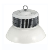 Fin factory lighting fixtures with fan cooling