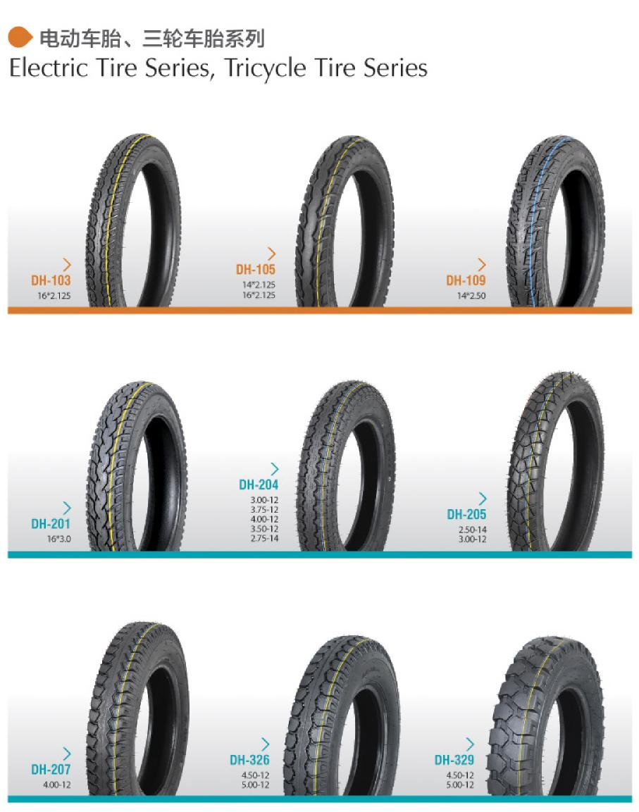 Electric Bicycle & Tricycle Tires