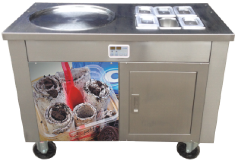 single pan fried ice cream roll machine with Panasonic compressor