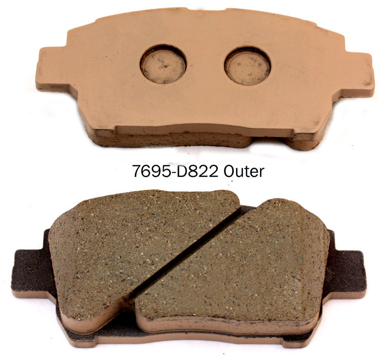 Auto mobile parts A-634WK brake pad for TOYOTA Corolla Prius Yaris brake pad manufacturer