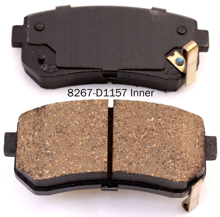 Car parts 58302-1GA00 brake pad for Hyundai accent I30 ix35 santafe brake pad manufacturer for Kia cerato koup K3 K5 pican70 pro Ceed  RIO Sportage brake pad factory