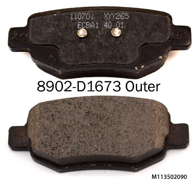 Car auto parts M11-3502090 brake pad for CHERY A3 E5 FI990 Q5 A5 brake pad suppliers in china