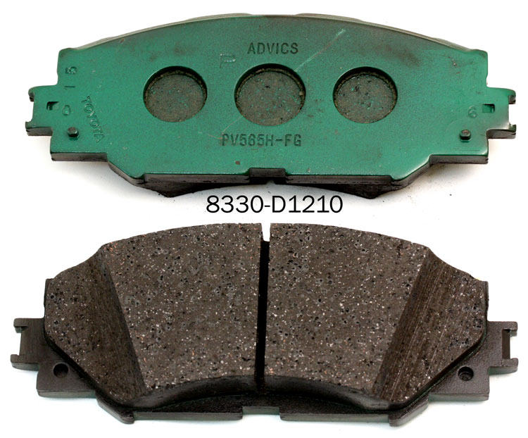 brake pads manufacturer for TOYOTA CORALLA YARIS PARIUS 04466-20090 brake pad factory in China