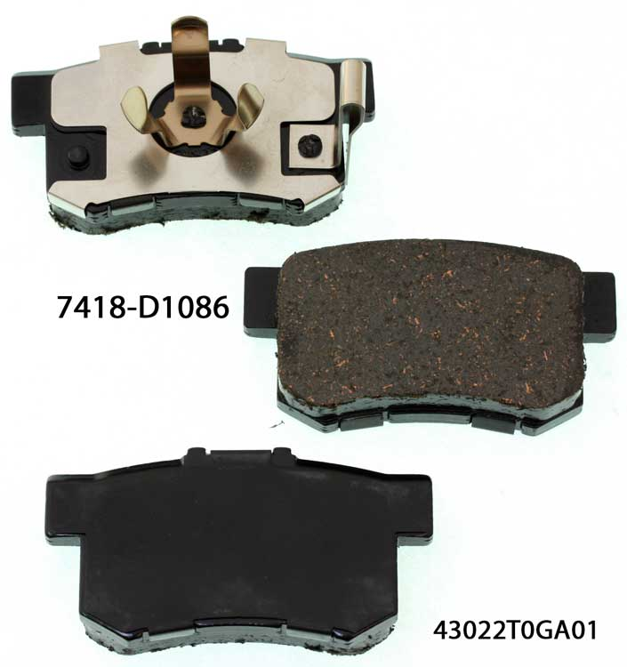 Car autos 43022-S9A-010 brake pad for HONDA Accord CR-V Crosstour Civic brake pad factory