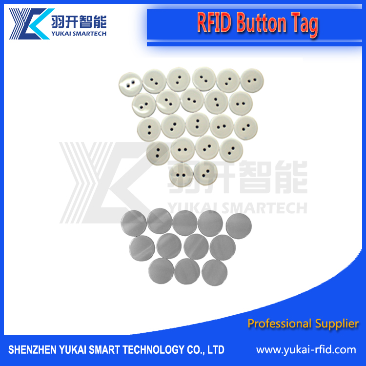 Long Distance HF/UHF Rfid Tags Small Size Button Cheap Price For Laundry Tag label