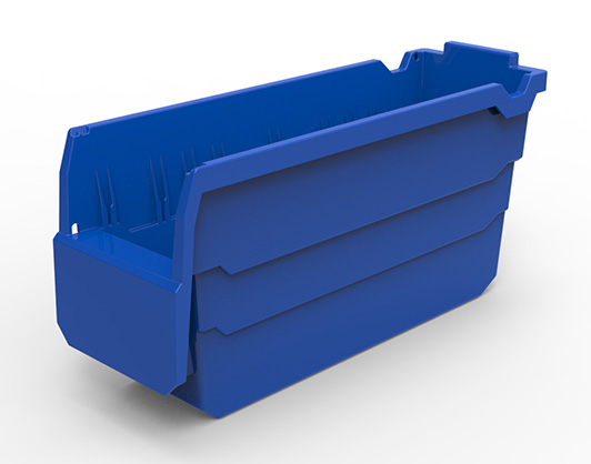 Small parts storage box made of food grade material