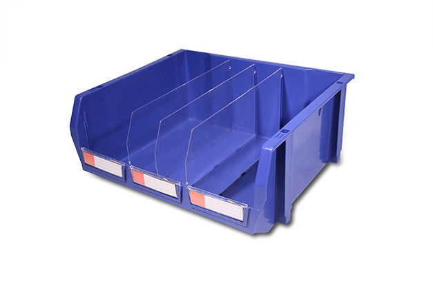 Leading stacking and hanging box for industrial storage and picking