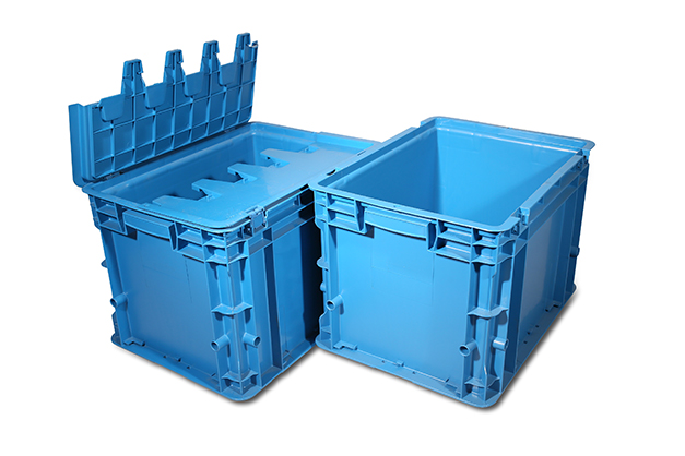 Plastic distribution containers for storage and moving